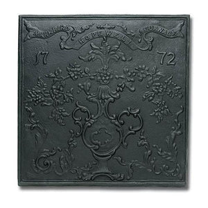 Hopewell Cast Iron Fireback - McCready's Hearth and Home