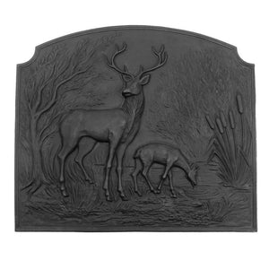 Deer Cast Iron Fireback - McCready's Hearth and Home