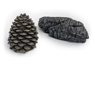 Vent Free Gas Log Accent Kit With Pine Cone And Log Chunk