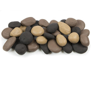 Blazing River Stones Set - Black, Beige, And Brown - McCready's Hearth and Home