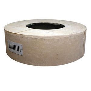 "Round Unfinished Enclosure For 25"" Round Fire Pit Burner"