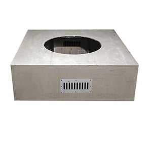 "Square Unfinished Enclosure For 25"" Round Fire Pit Burner - McCready's Hearth and Home"