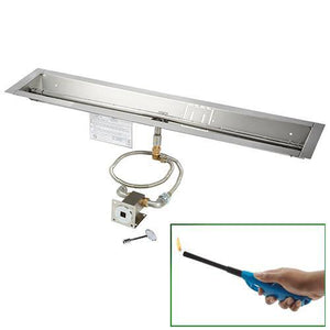 Linear Trough Burner - Match Lit - UL Certified - McCready's Hearth and Home