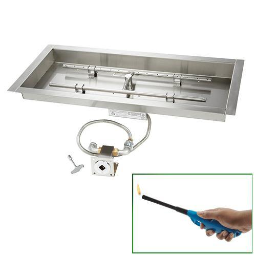Rectangular Burner - Match Lit - UL Certified