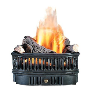 "19"" Wood Basket with Convertible Safety Pilot - McCready's Hearth and Home"