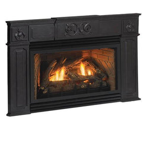 "Traditional Cast Iron Surround - 6"" Legs & 6"" Header - McCready's Hearth and Home"