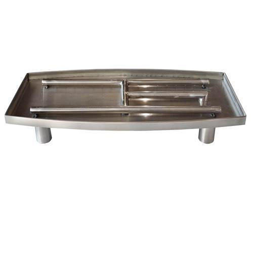 Stainless Steel Oval Pedestal Burner