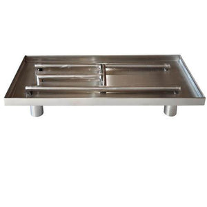 Stainless Steel Rectangular Pedestal Burner - McCready's Hearth and Home