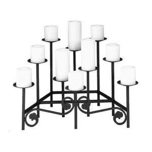 Ten Spear Hearth Candelabra - Holds 10 Candles - McCready's Hearth and Home