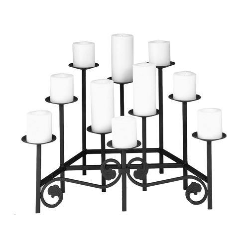 Ten Spear Hearth Candelabra - Holds 10 Candles