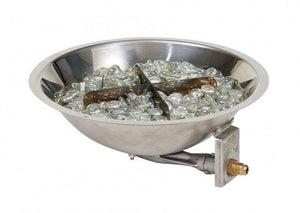 Round Stainless Steel Gas Burner - McCready's Hearth and Home