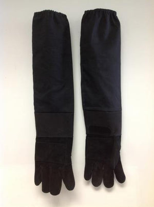 "26"" Long Gloves With Leather Palm"