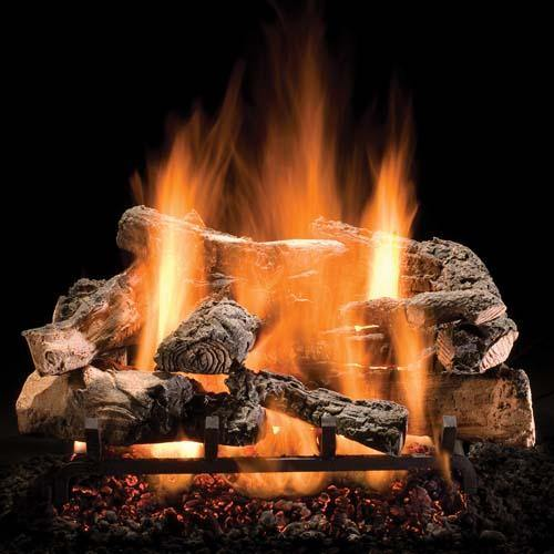 Rustic Timbers - Electronic Variable Flame On/Off Ignition - Includes Remote