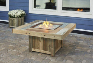 Vintage Square Gas Fire Pit Table - McCready's Hearth and Home
