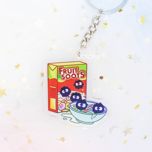 Soot Sprite Fruit Loops Acrylic Keychain