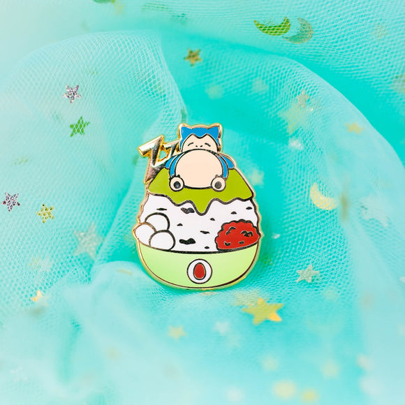 Snorlax Shaved Ice Pin