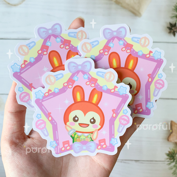 Bunnie Popstar Sticker