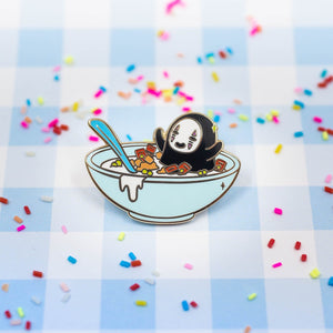 No Face Cereal Enamel Pin