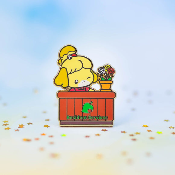 Isabelle At Your Service Pin