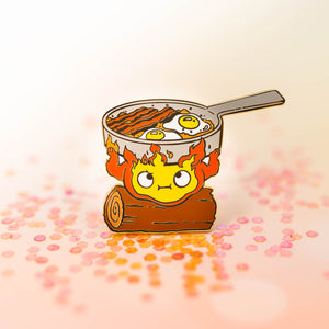 Calcifer's Burden Enamel Pin
