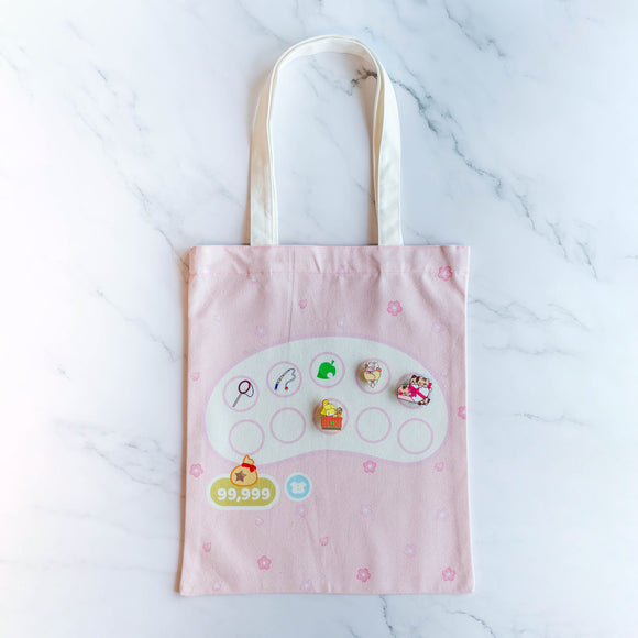 Animal Crossing Inventory Tote Bag