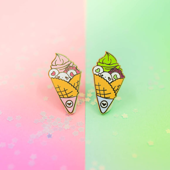 Puffi Ice Cream Cone Pin