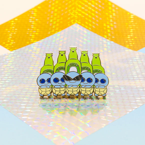 Squirtle Squad Beer Pin