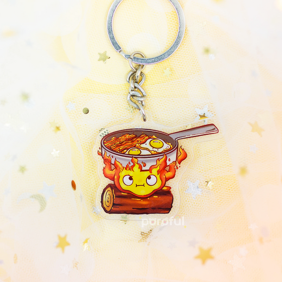 Calcifer Acrylic Keychain