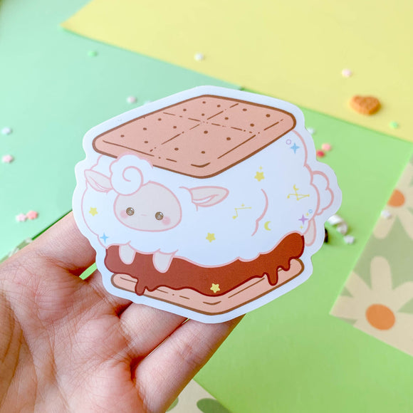 S'mores Sheep Sticker