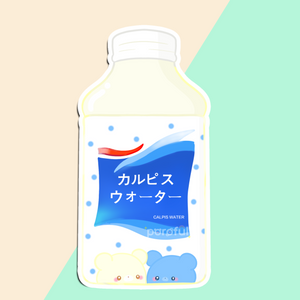 Calpis Bear Sticker