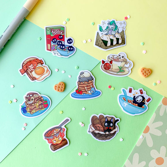 Studio Ghibli Breakfast Sticker Pack