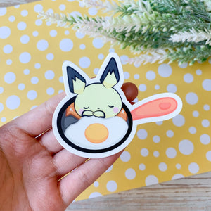 Pichu Breakfast & Eggs Sticker
