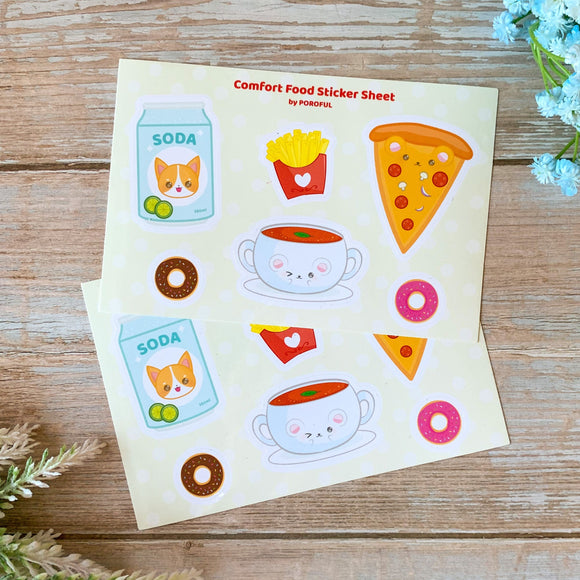 Comfort Food Sticker Sheet