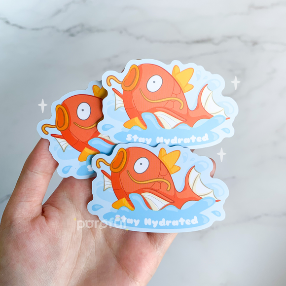Magikarp x Stay Hydrated Sticker
