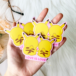 [CHARITY] Love is Love / Lesbian Pikachu Stickers