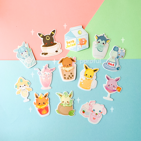 Pokemon Drinks Sticker Pack