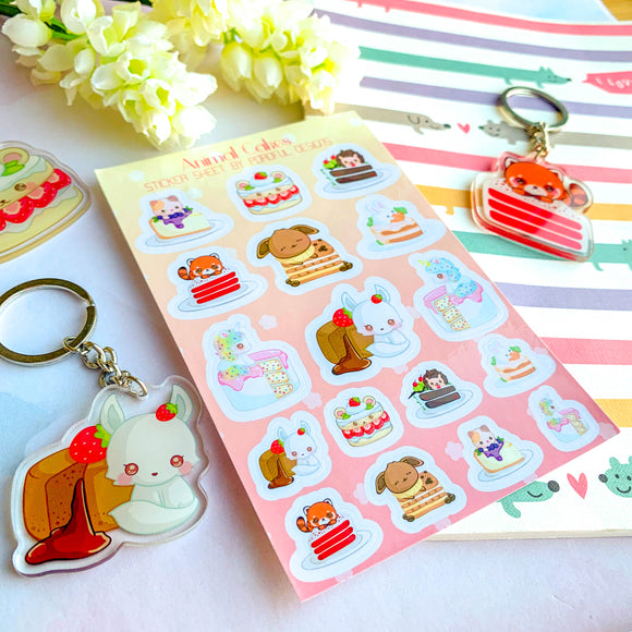 Kawaii Animal & Cakes Sticker Sheets