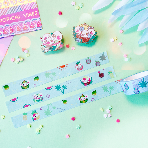 Puffi Tropical Fruit Washi Tape
