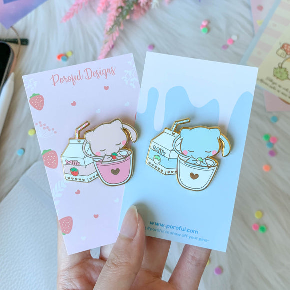 Strawberry Milk Mew Pin