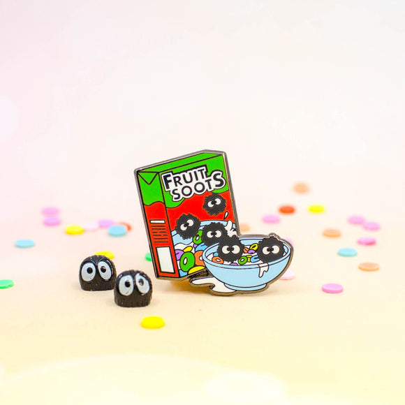 Soot Sprite Fruit Loops Enamel Pin