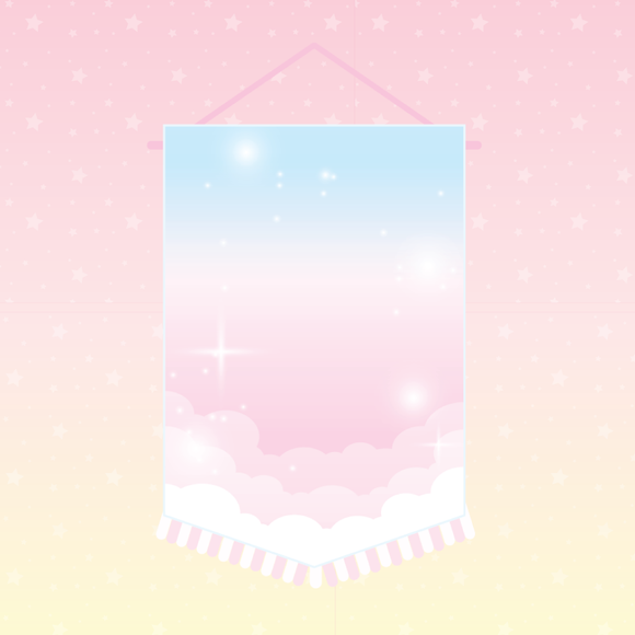 PRE-ORDER // Sugar Clouds Pin Banner