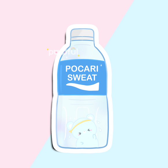 Pocari & Sweaty Bear Sticker