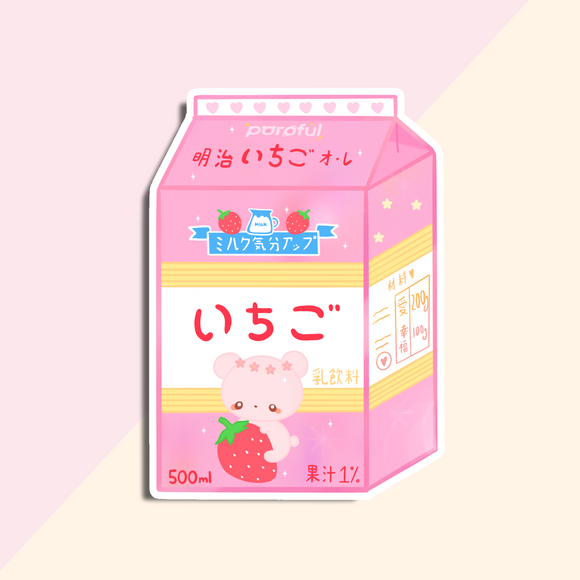 Strawberry Milk Bear Sticker