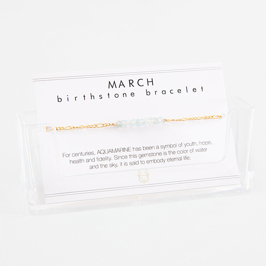 BIRTHSTONE BRACELET March - INDI&ME