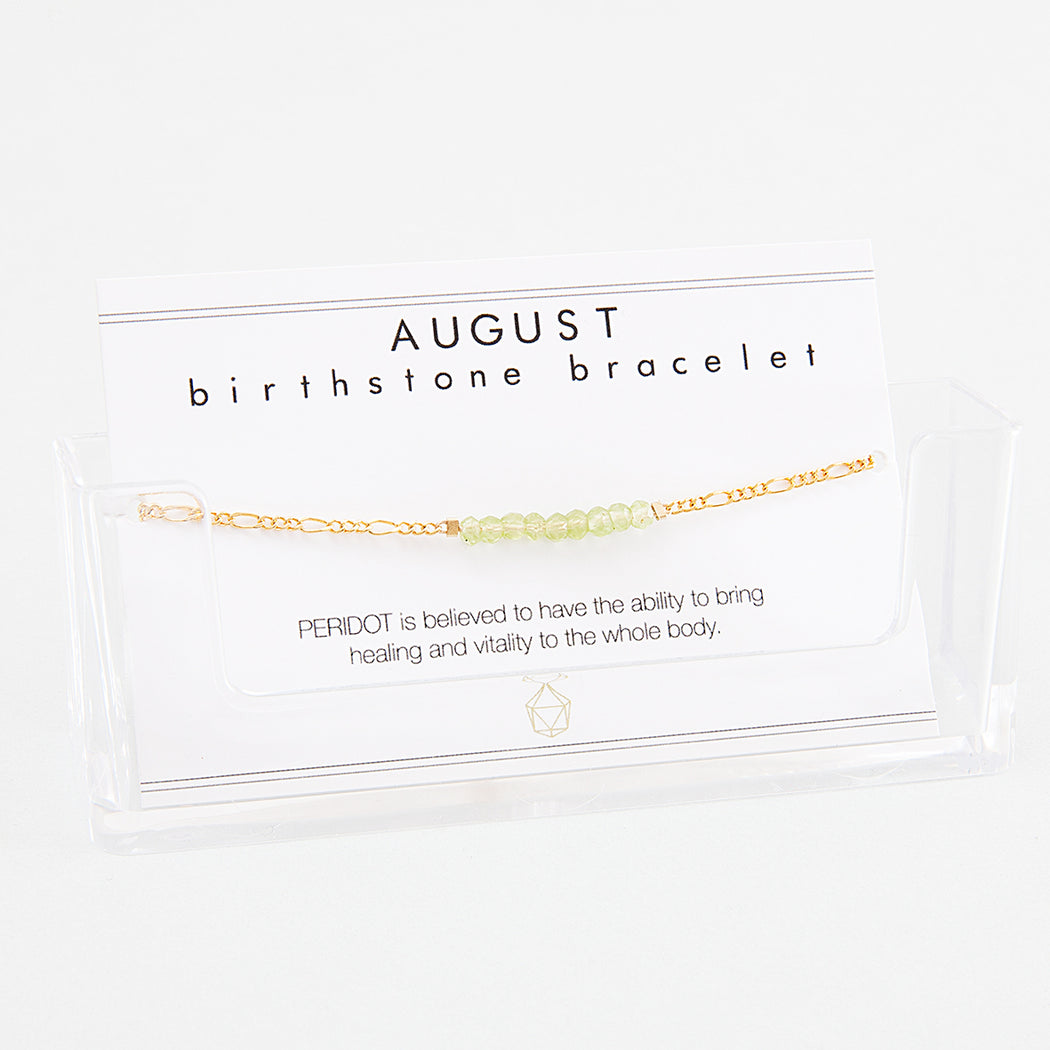 BIRTHSTONE BRACELET August - INDI&ME