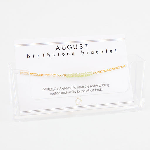 BIRTHSTONE BRACELET August