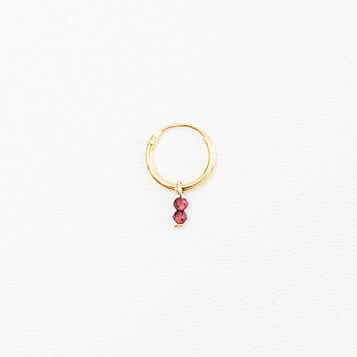BIRTHSTONE EARRING januari - INDI&ME