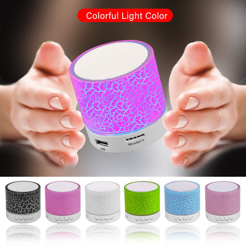 Mini Bluetooth LED Portable Speaker with Hands Free Function