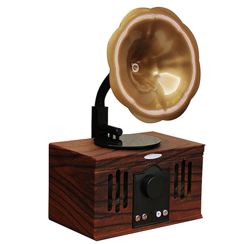 Retro Bluetooth Speaker with Phonograph Decoration and FM Radio function