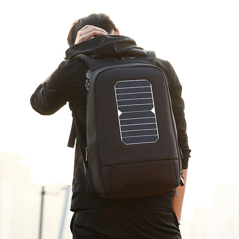 Solar Panel Powered Anti-Theft Backpack